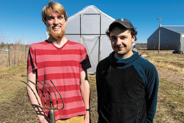 Portrait of co-presidents of UI Student Garden