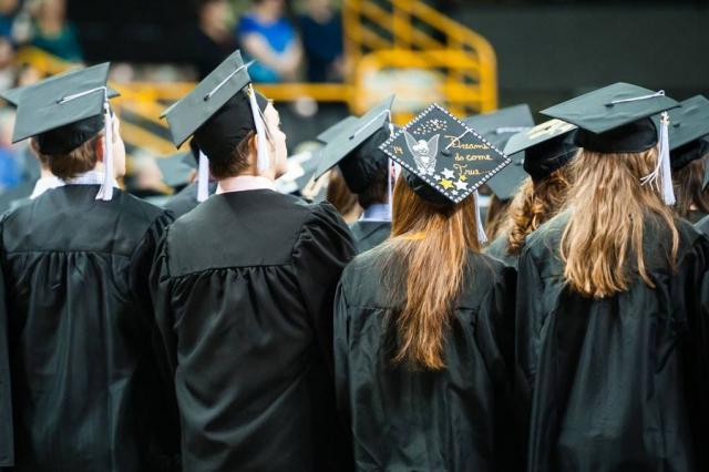 UI graduates celebrate at December commencement ceremonies.