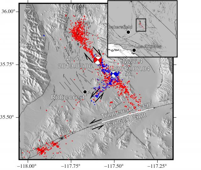 ridgecrest earthquake map