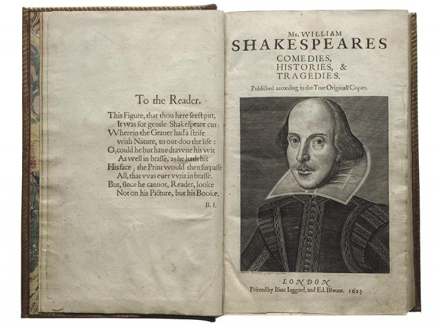 Title Page of The First Folio