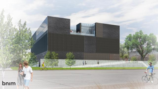 rendering of the new museum of art building