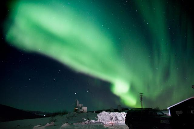 The Northern Lights, as seen in the sky over Alaska