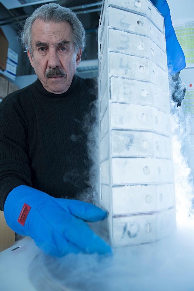 david soll in his lab