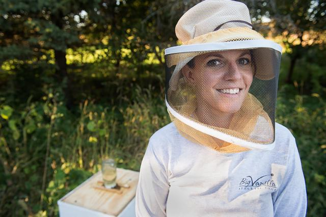 kelli haught at her home where she raises bees