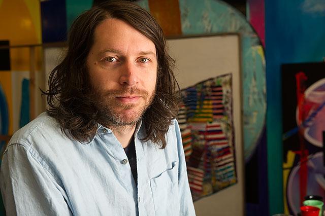 Eric Sall in his studio.