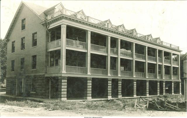 South face of Isolation Hospital, now known as Stuit Hall