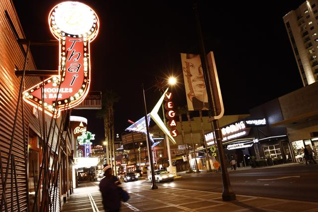 A street in Downtown Las Vegas