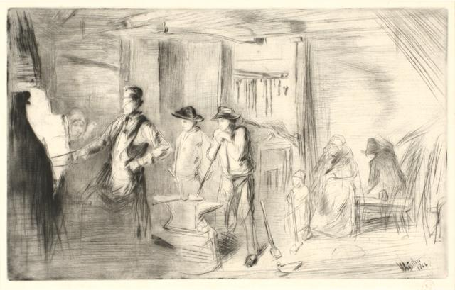 The Forge, 1861 by James Abbot McNeill Whistler (America, 1834 – 1903)