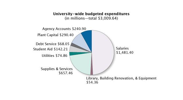 university-wide budgeted expenditures