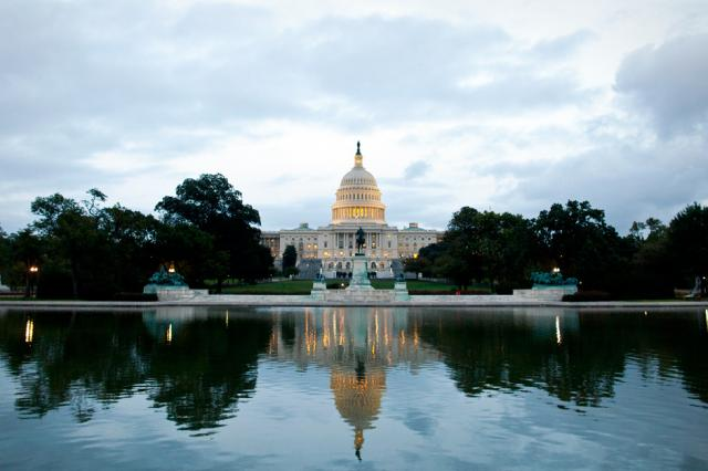 US Capitol Building in Washington, DC in the reflecting pool