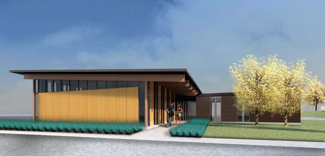 rendering of new golf facility