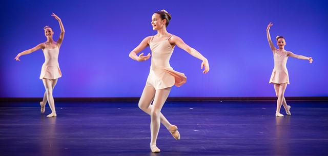 youth ballet participants on stage