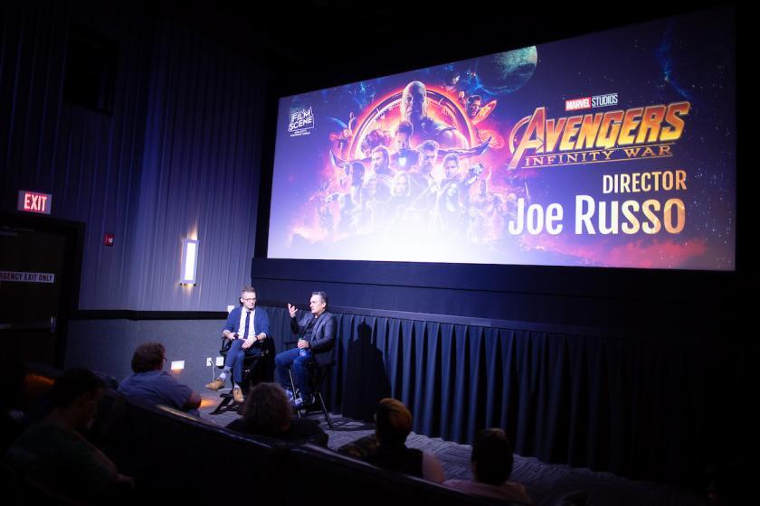 University of Iowa alumnus Joe Russo discusses Avengers: Infinity War at FilmScene in Iowa City