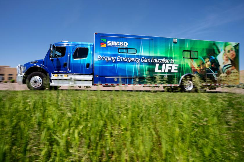 a truck used by the Simulation in Motion South Dakota program