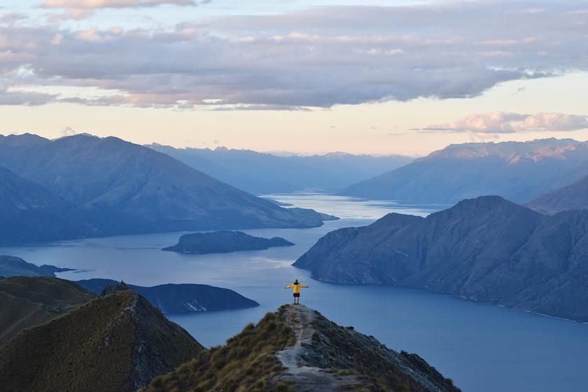 """Be Bold, Wear Gold,"" a photo by Trevor Jansma, taken at Roy's Peak, Wanaka, New Zealand"