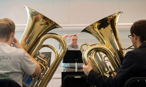 Holiday Tubas Rehearsal