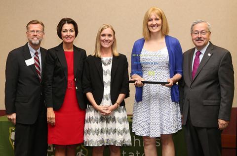 presentation of Healthy Iowa Award