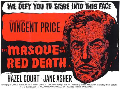 Copy of the original poster for the movie 'Masque of the Red Death,' starring Vincent Price