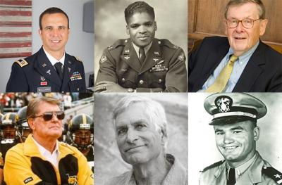 faces of honored veterans