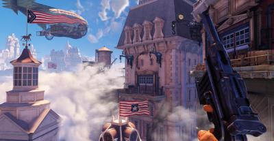 newsmaker, The game BioShock Infinite brings players to the floating city of Columbia during the 1893 Chicago World's Fair. Image courtesy of Irrational Games