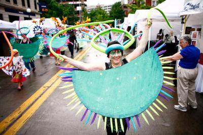 Carnaval parade through Iowa City