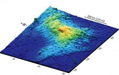 A 3-D map of Tamu Massif, the world's biggest volcano