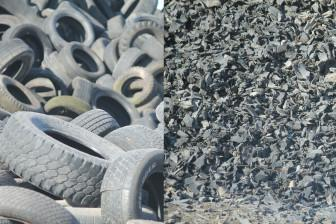 Tires in a landfill
