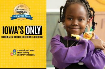 child with best hospital rankings graphic