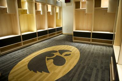 carver hawkeye arena locker room