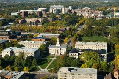 aerial view of the UI campus