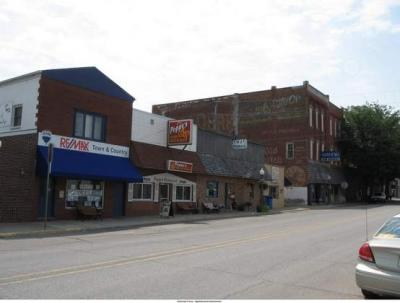 A view of Walnut Street, north of Howard, in Colfax's historic business district. Colfax is a town in Jasper County.