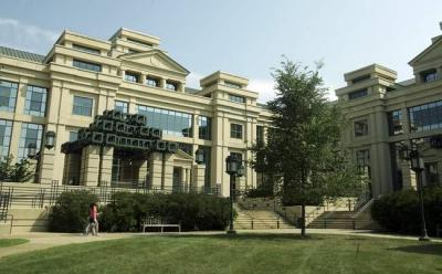 The Pappajohn Business administration Building houses the UI's Tippie College of Business.