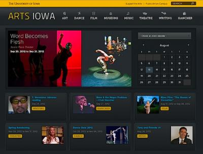 Home page for the Arts Iowa website