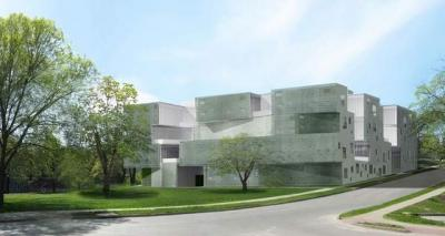 architect's rendering of new art building