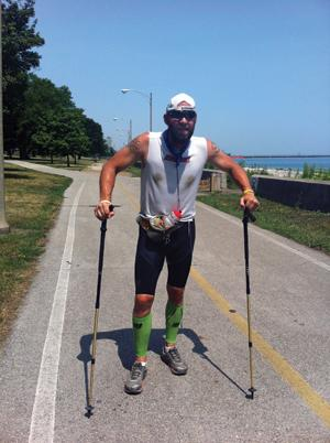 University of Iowa alumnus Steve Cannon ran 40 marathons in 40 days around Lake Michigan.