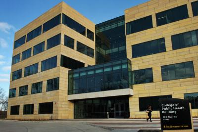 Exterior photo of UI College of Public Health Building