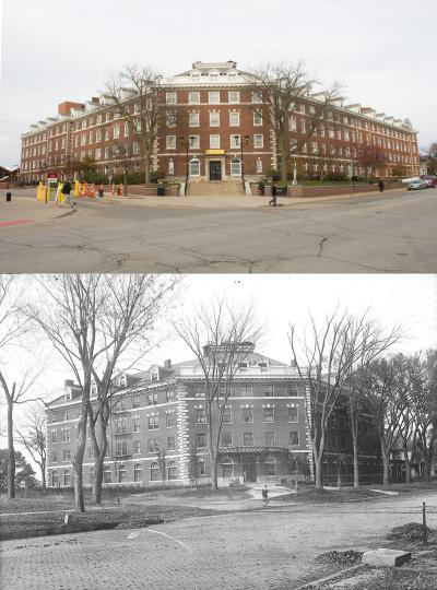 Currier Hall, then and now