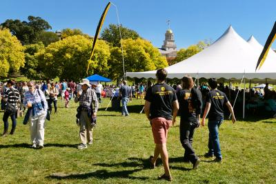 Thousands of people converged on Hubbard Park for the UI Celebrating Cultural Divesity Festival.