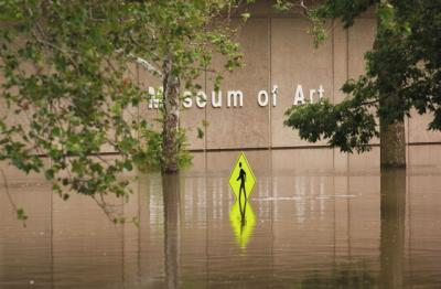 flooded museum of art