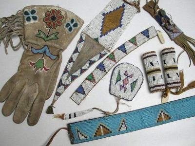 Salisbury House & Gardens is hosting the first Iowa Humanities Festival partly as a way to highlight its own collection of art and artifacts, including these Native American beaded accessories. / Salisbury House & Gardens/Special to the Register