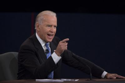 Vice President Joe Biden speaks during the VP debate
