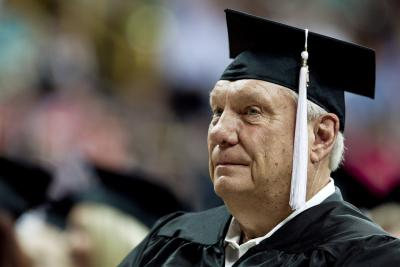 Don Nelson graduates from the University of Iowa at 71.