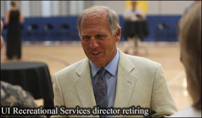 Image of retiring UI Recreational Services Director Harry Ostrander