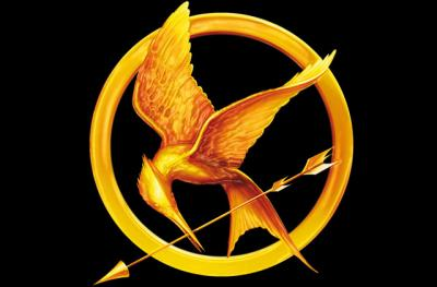 Gold symbol from The Hunger Games book jacket