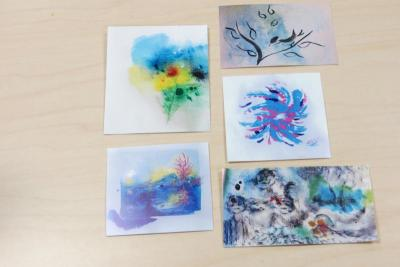 """Some of the artwork featured in the exhibit iving Proof Exhibit: Cancer Survivor Art."""""""