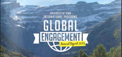 Portion of cover of UI International Programs annual report