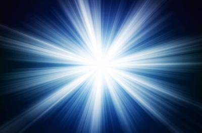 bright star burst like light