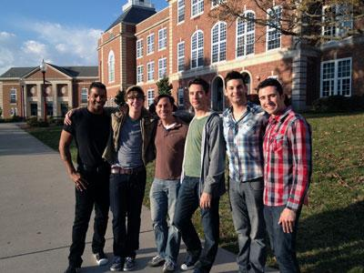 The cast of the it gets better show visits the gay-straight alliance at City High School in Iowa City.