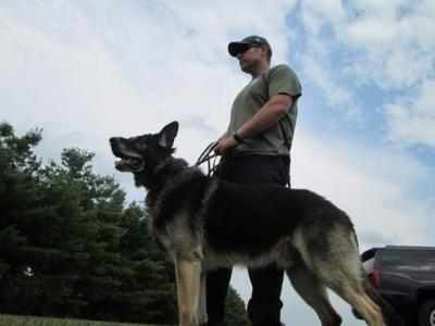 University of Iowa Department of Public Safety Lt. Mike Smith and his K9, Axel