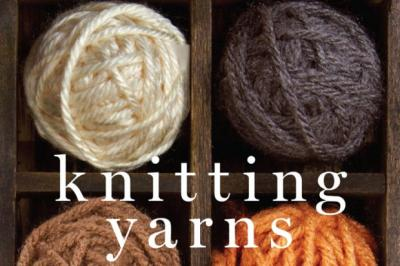 Balls of knitting yarns of various colors